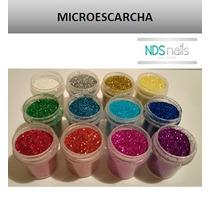 Kit De 12 Microescarchas De Colores Para Polvos Para Uñas