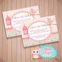 Convites Personalizados Chá De Bebe Modelo 1 - 50 Un