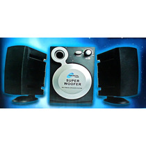 Parlantes 2.1 Potencia Pc Tv Dvd Computadora Telefono Movil