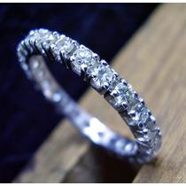 Aliança De Platina Com Diamantes Naturais !!