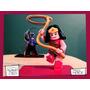 Souvenir Aplique Madera 60cm Heroe Mujer Maravilla Lego