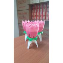 Vela Musical Tulipan Flor De Loto 8 Petalos