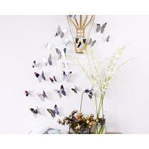 Decoración De Paredes 12 Mariposas Estilo Minimalista