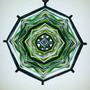 Mandala Verde E Preto