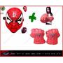 Kit Mascara Q Acende E Luva Grande Homem Aranha Marvels