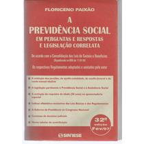 Livro Previdência Social Em Perguntas E Respostas.