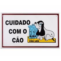 Placa Advertência Vira Lata Cuidado Com Cão - Frete Grátis!