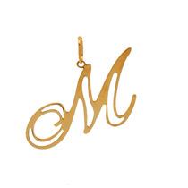 Pingente Ouro 18k - Letra M