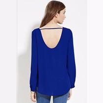 Blusa De Gasa Talla 3xl Color Azul Rey