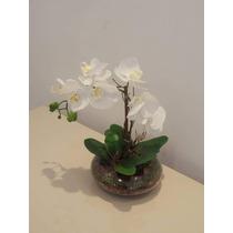 Orquídea Branca De Silicone