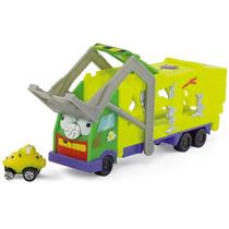 Caminhão Cegonha Lixo Trash Wheels C/ 1 Veículo - Dtc