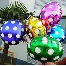 Lote 10 Globos Lunares, Polka, San Valentin, Helio