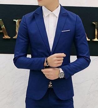500fca8578 Blazer Masculino Azul - Store Eleganceman - Formal Casual - R  149 ...
