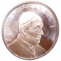 Moneda Del Papa Francisco,1 Onza De Cobre