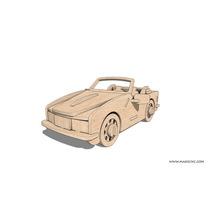 Puzzle 3d Madera Mdf. De Colección. Carro Deportivo Armable