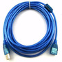 Cable Usb Extension Azul Alta Calidad 10mts Filtros Equiprog
