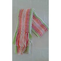 Bufanda Arcoiris Tejida A Mano En Crochet