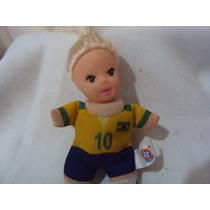 Boneca Antiga Fofolete Com A Roupa Do Brasil Da Estrela