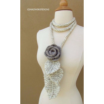 Bufandas Decoradas A Crochet