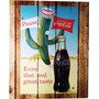 Quadro Retrô Coca Cola 2 Madeira Estilo Placa 23x19 Cm
