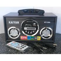 Caixa De Som Portátil Kaiyan Ky-209 No Leilão