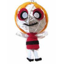 Powerpuff Girls Blossom Voodoo String Doll Keychain