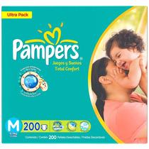 Fraldas Pampers Total Confort - Pacote Mensal C/200 M