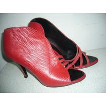 Zapatos De Vestir, Sandalias Rojas Tipo Bot, Calzados Lucchi