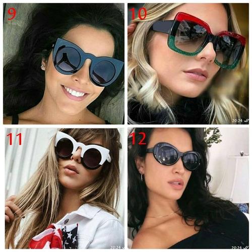 740bd3ca2 Kit 2 Óculos Escuro Feminino Tendencia Coleção 2019 Promoção - R$ 89 ...