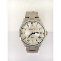 Relógio Masculino Atlantis Original Prata Frete Grátis