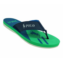 Chinelo Polo Ralph Lauren Verde E Azul