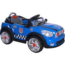 Carro Elétrico Mini Cooper Azul Conversivel Controle Remoto