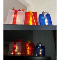 Serie Luces Led Juego 3 Regalos Navideños Decoración Navidad
