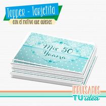 Cumple 50 - Tarjetita Souvenir 50 Para Imprimir