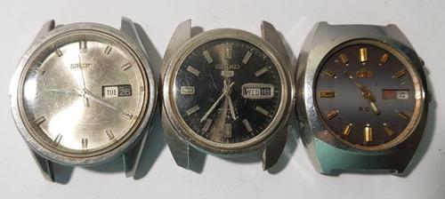 14b77261dea Lote De Relógios Sendo 2 Seiko E 01 Orient Para Tirar Peças - R  149 ...
