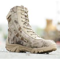 Bota Tipo Militar Camuflada - Alta Calidad