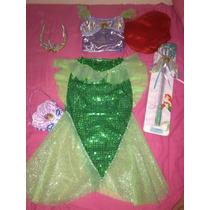 Disfraz Sirenita Original Disney Incluye Peluca Y Accesorios