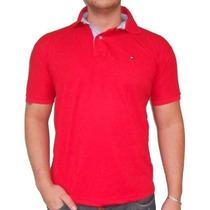 Camisa Camiseta Polo T Hilfiger Masculina Varias Cores