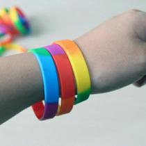 Pulsera Silicon Bandera Orgullo Gay Lgtb Lesbiana Envío Dhl