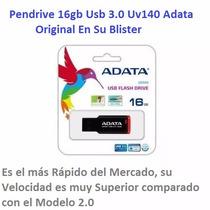 Pendrive 16gb Usb 3.0 Uv140 Adata / Original En Su Blister