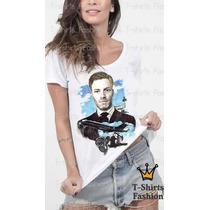 Camiseta T- Shirt Ator Famoso Feminina Personalizada Blusa