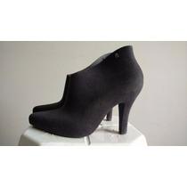 Sapato Cinza Flocado (camurça) Melissa 39