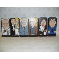 Cristina, Nestor, Evita, Perón, Papa Francisco Caricatura