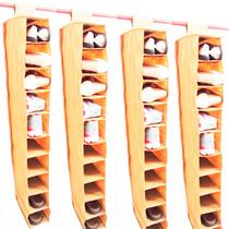 Kit 4 Sapateira Suspensa 10 Nichos Para Guarda Roupa Closet