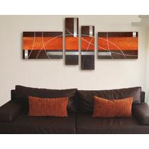 Cuadros Pintados Arte Pop Abstractos Texturados Encajonados