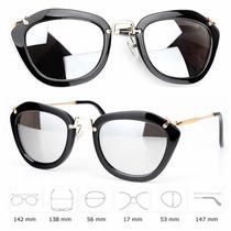 Óculos De Sol Espelhado Olho De Gato Feminino Moda Fashion