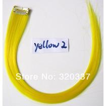 Mecha Coloridas Tic Tac 2cm X 60cm - Amarelo - Frete R$6,00
