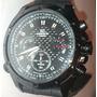Outlet Reloj Casio Edifice Ef-535bk Cronometro Correa Caucho