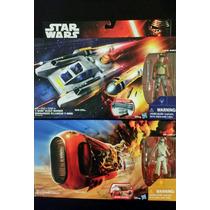 Reys Speeder Jakku + Y Wing Scout Bomber Star Wars Nuevo