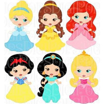 Kit Imprimible Princesas Disney 30 Imagenes Clipart